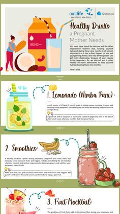 Healthy Drinks - A Pregnant Mother Needs